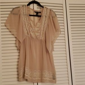 Forever 21 see through tunic blouse